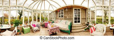 intérieur, panoramique, consevatory