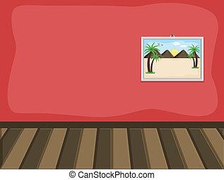intérieur, paysage, salle, image