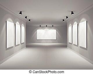 intérieur, réaliste, galerie