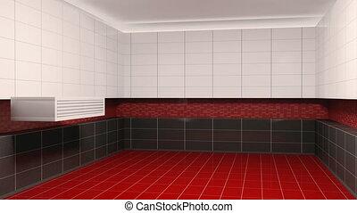 intérieur, salle bains, création