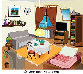 intérieur, salle