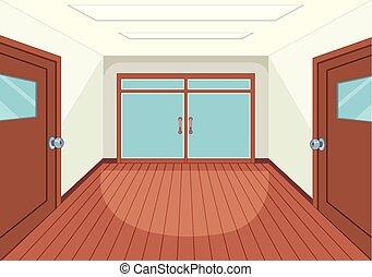 intérieur, salle, vide