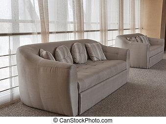 intérieur, sofas