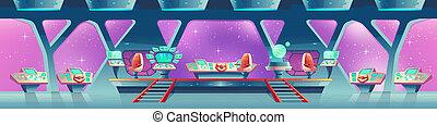 intérieur, vaisseau spatial, fond
