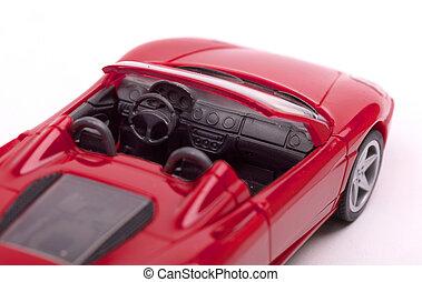 intérieur, voiture, jouet, rouges, sports