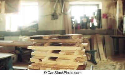 intérieur, workshop., charpenterie