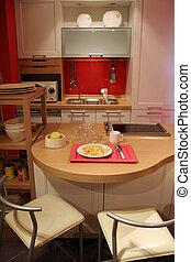 intérieurs maison, cuisine, -, nouveau