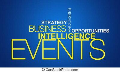 intelligence, mot, business, nuage