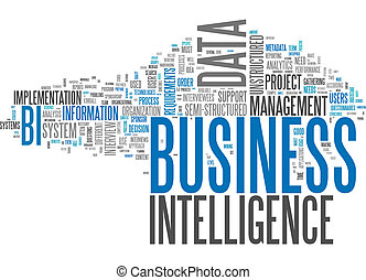 intelligence, mot, nuage, business