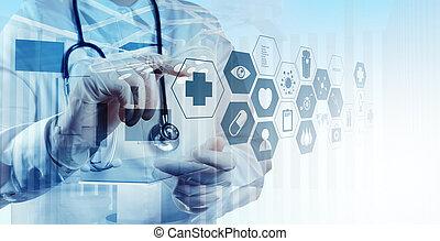 intelligent, docteur, fonctionnement, double exposition, opération, monde médical, r