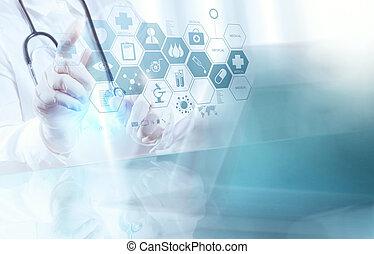 intelligent, docteur, fonctionnement, opération, monde médical, salle, concept
