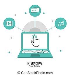 interactif, technologie, conception