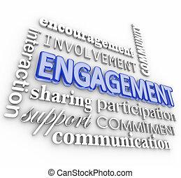interaction, mot, collage, engagement, participation, participation, 3d