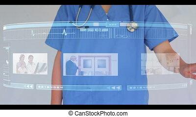 interactiv, par, docteur, défilement