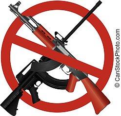 interdiction, fusil, 15, 47, ar, assaut, ak, illustration, fusil