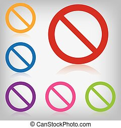 interdit, vecteur, meute, coloré, signe
