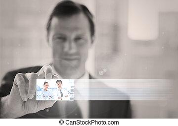 interface, chic, numérique, présentation, homme affaires