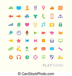 interface, coloré, icônes