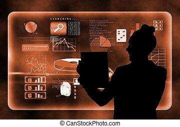 interface, composite, technologie, futuriste, image
