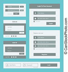 interface, ensemble, utilisateur, formulaire