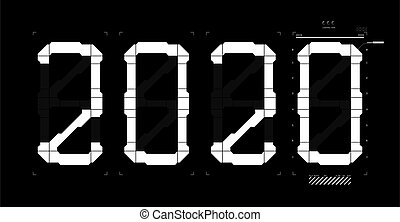 interface, hud, chiffres, 2020, futuriste