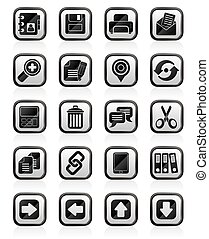 interface, icônes, internet