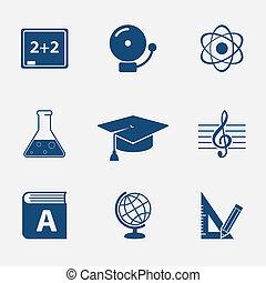 interface, site web, éléments, education