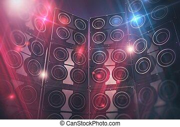 interlocuteurs, fond, disco