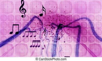 interlocuteurs, notes, boucle, musique