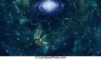 interminable, ailé, space., anges