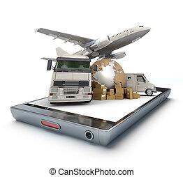 international, app, transport