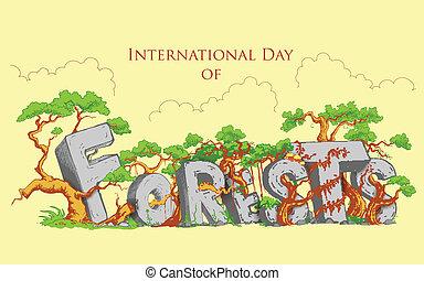international, forêt, jour