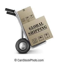international, global, expédition, commercer