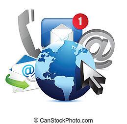 international, globe, concept, communication