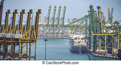 international, moyeu, singapour, port