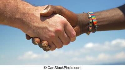 international, poignée main, amitié, symbole