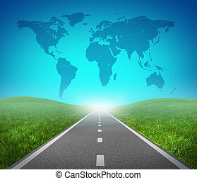 international, route