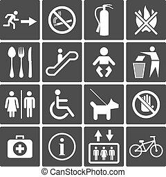 international, service, signes