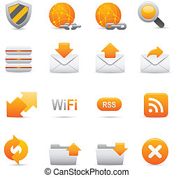  , internet, 07, jaune, icônes