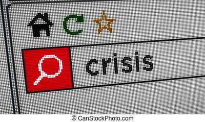 internet, crise, recherche
