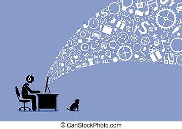 internet., surfer