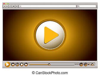 internet, vidéo, commandes, navigateur