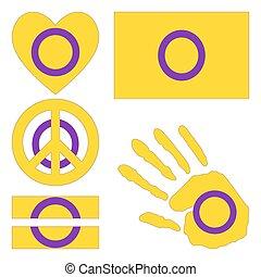 intersex, elements., fierté, conception