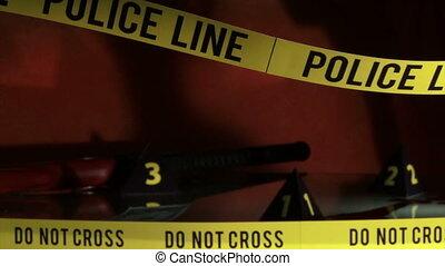 investigation, ligne, police, crime