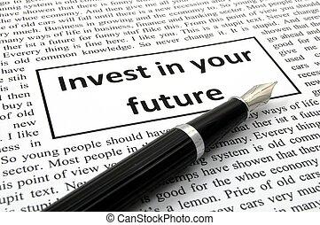 investir, avenir, ton