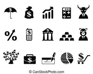 investir, ensemble, finance, icônes