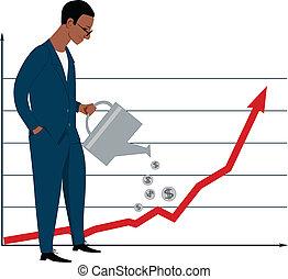 investir, marché, stockage