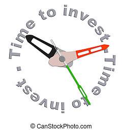 investir, temps