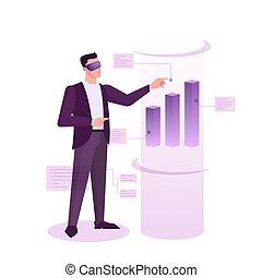 investissement, idée, marché, concept., stockage, finance