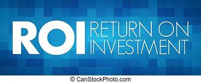 investissement, retour, roi, acronyme, -